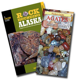 Rockhounding Alaska - By Montana Hodges: guide to the rocks, minerals and fossils legally found and collected within the state. The book contains a light, a site-by-site guide to approximately 70 collecting locations. Included with every site will be clear concise driving directions, a GPS position. In Stock for immediate shipping. Save on shipping of this package, with - 4FACETS.com FREE Shipping to U.S. destinations by USPS media mail.$21.95.