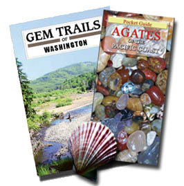Washington Beachcomber's Package: Gem Trails of Washington and the pocket guide to Agates of the Pacific Coast In Stock and Ships immediately. Save on shipping of this package, with - 4FACETS.com FREE Shipping to U.S. destinations by USPS media mail. $21.95.